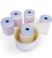 75 x 60 mm 3-ply Carbonless Paper Rolls White/Pink/Canary